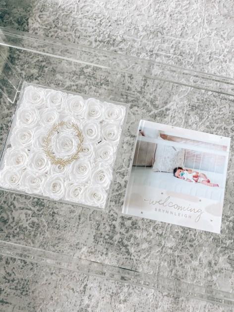 Baby Photo Album by popular Houston motherhood blogger, Jessica Crum: image of a Mixbook baby photo album.