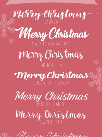 My Best-loved Free Christmas Fonts