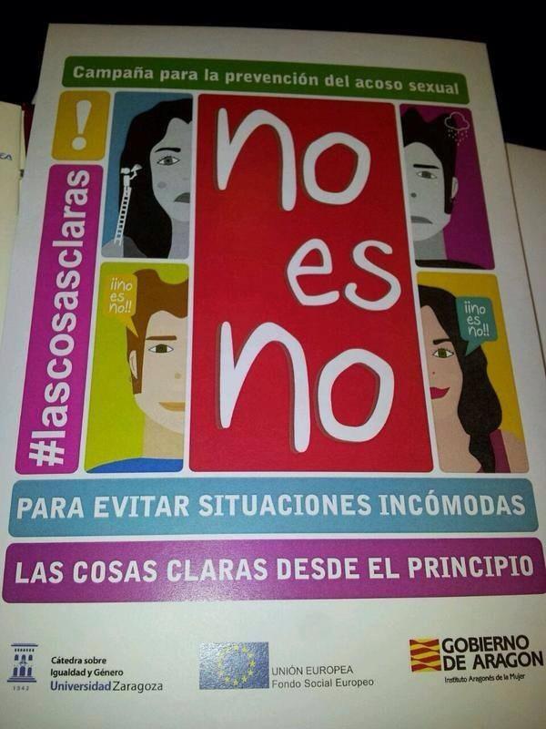 """Campaña del Gobierno de Aragón para previr """"situaciones incómodas"""": más te vale no cambiar de opinión, que los hombres cuando se aceleran no razonan"""