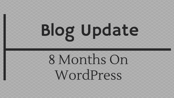 8 months on wordpress