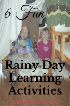 6 Fun Rainy Day Learning Activities