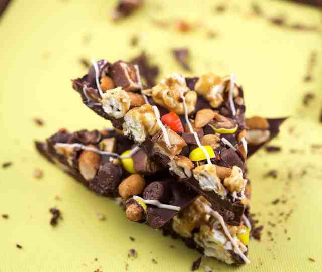 Make Your Own Candy Bark Combine All Of Your Favorite Halloween Candy Sweets Into One