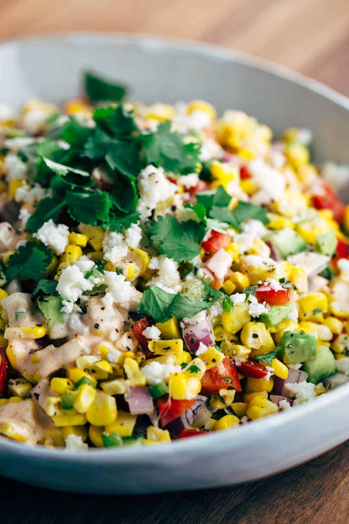 Mexican Street Corn Salad With Chipotle Dressing Jessica