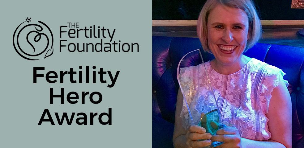 Jessica Hepburn receives the Fertility Foundation's Fertility Hero Award