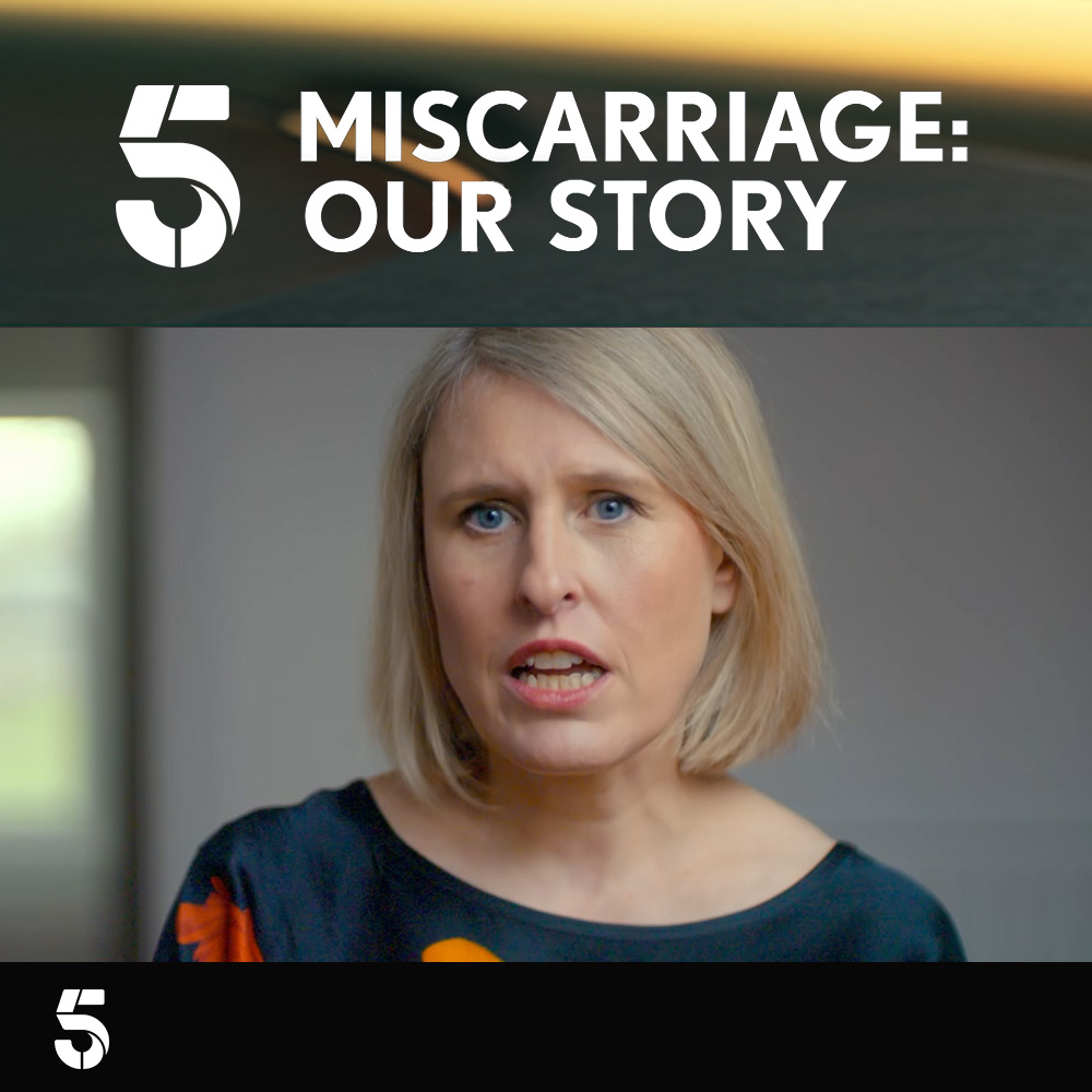 Jessica Hepburn features in the Channel 5 documentary Miscarriage: Our Story