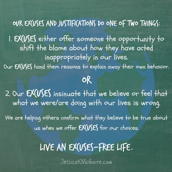 live an excuses free life