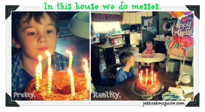 messy birthday reality jkmcguire