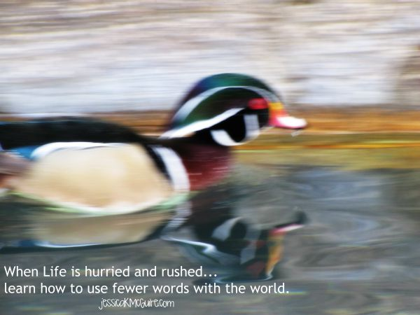 learn how to use fewer words with the world jkmcguire