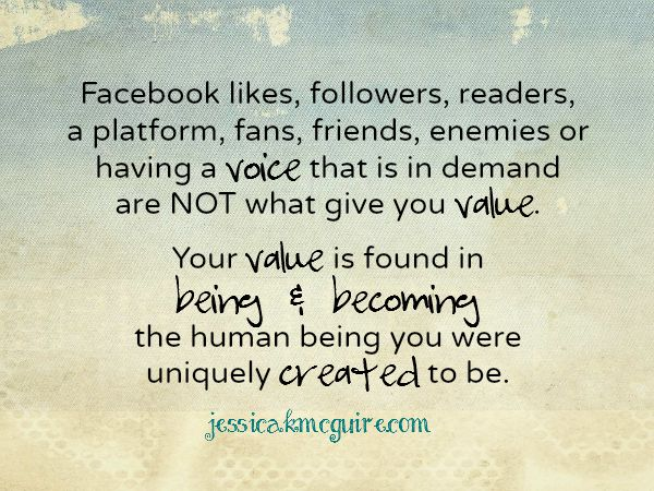 value is not being in demand jkmcguire