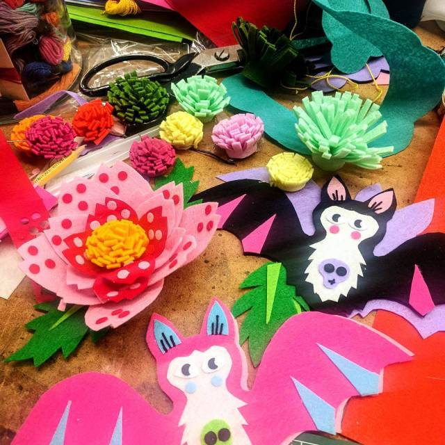 Also making two very special handmade felt flower and bathellip