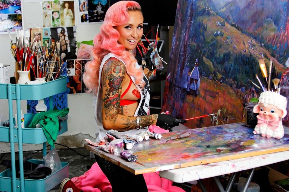 Portrait of artist Natalia Fabia by Jessica Louise