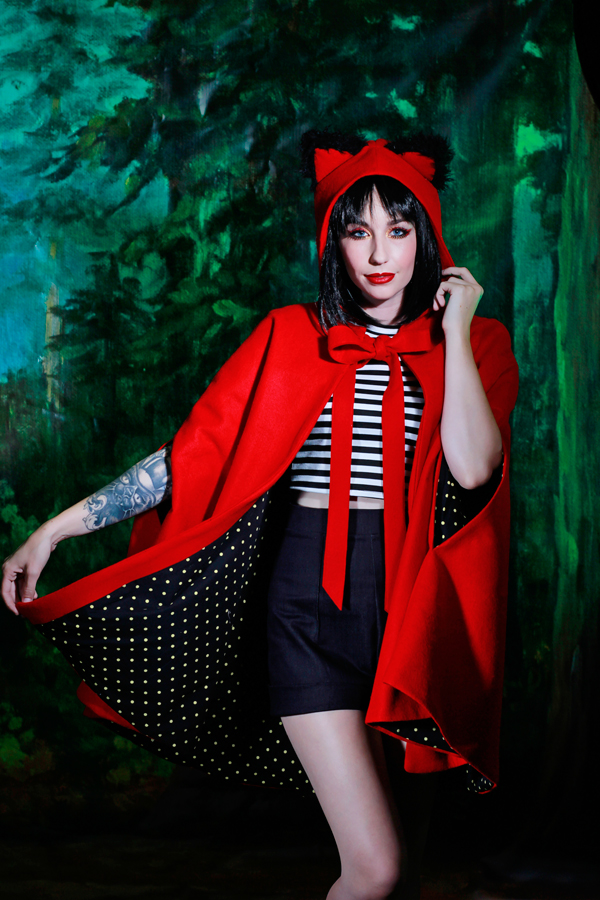 jessica louise meowing hood cat ear cape