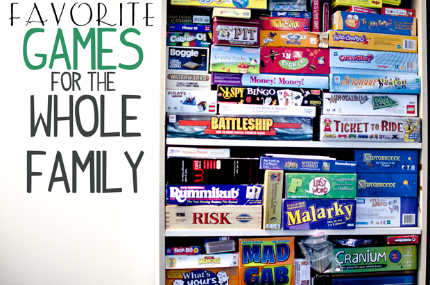 FAVORITE GAMES FOR THE WHOLE FAMILY