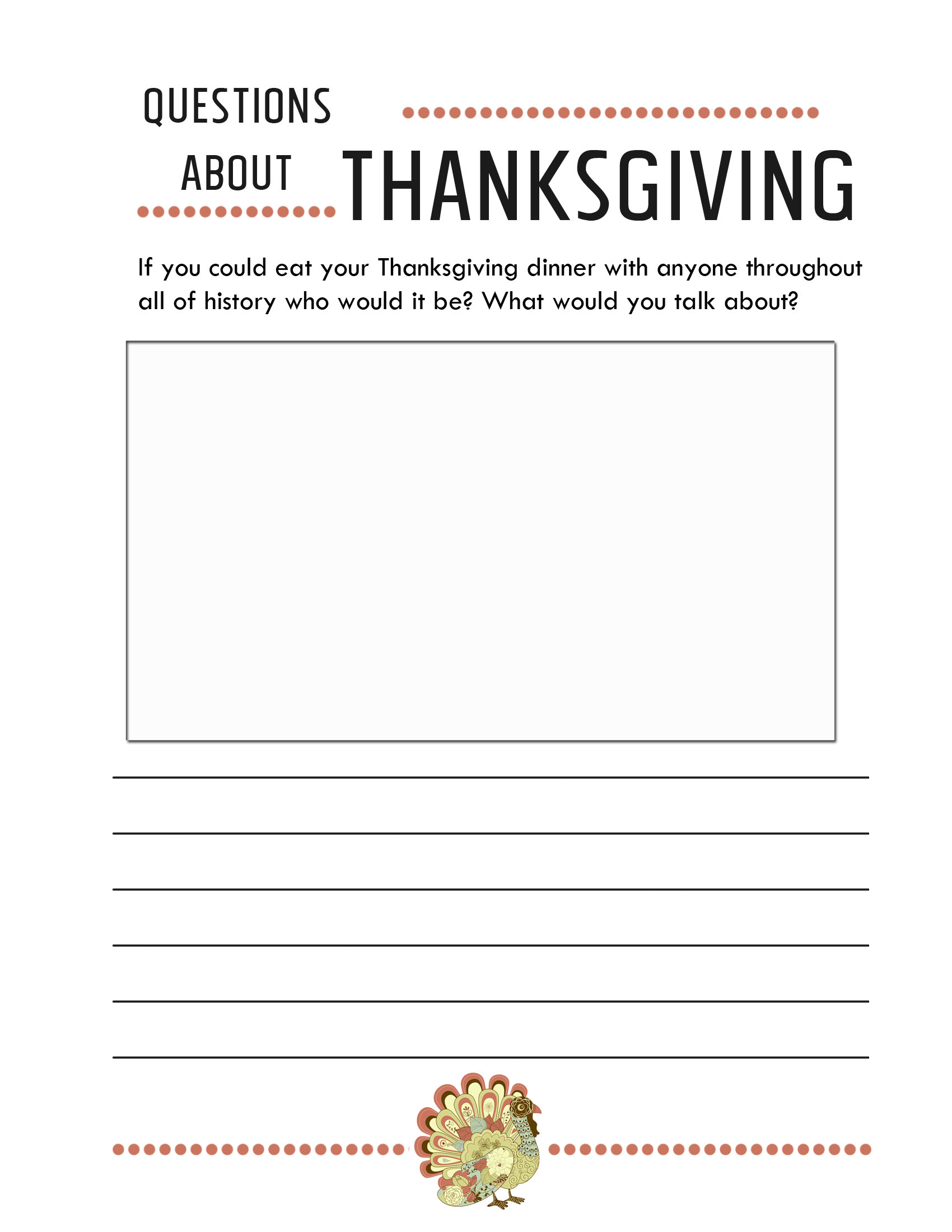 Thanksgiving Worksheets Free Printables