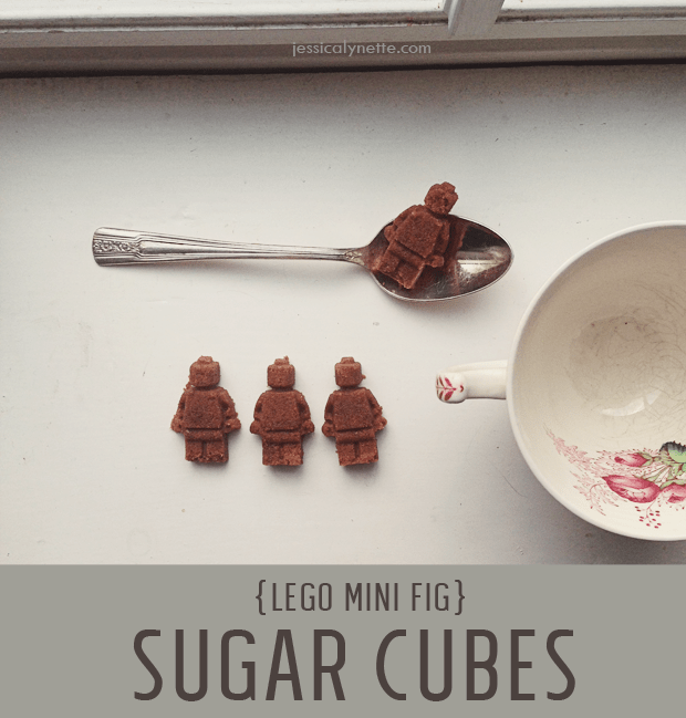 Make your own unique and special sugar cubes! These Lego minifigure sugar cubes are super simple to make.