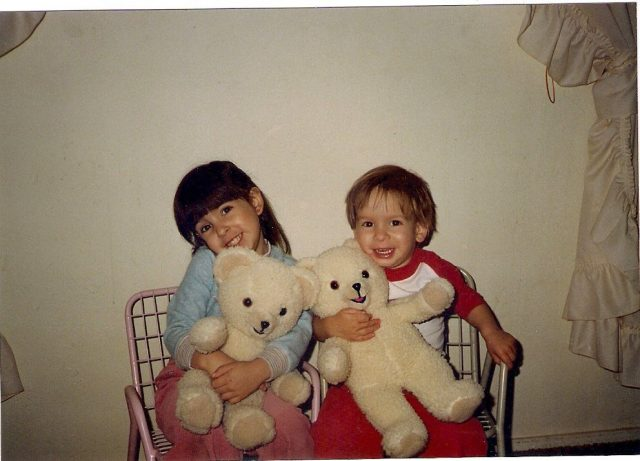 Snuggle Circa 1988. I'm going old school for National Teddy Bear Day, and I'm talking all about my first teddy bear. Friends, meet Snuggles!
