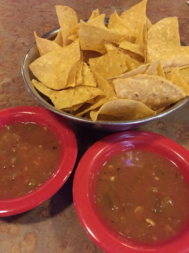 new mexican restaurant chips and salsa