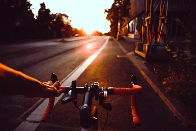 handlebar on bike