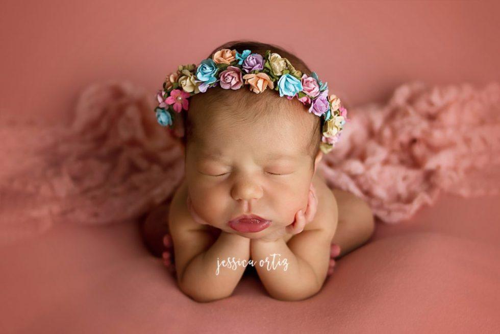 Dallas newborn photographer baby olivia