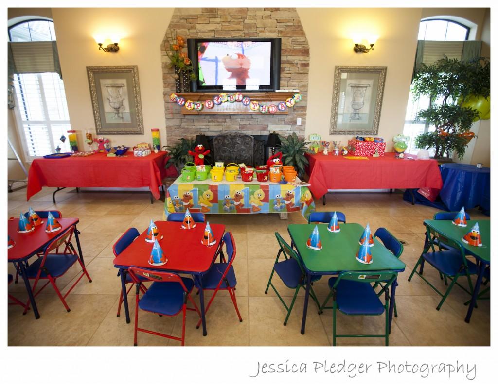 Elmo 1st Birthday Party Jessica Pledger Photography