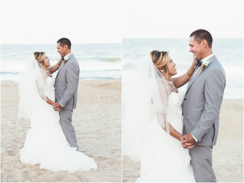 virginia beach holiday inn suites north beach wedding bride and groom portrait
