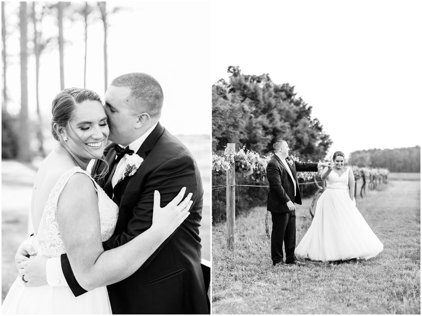 black and white photography of couple at Sanctuary Vineyards wedding day, Jessica Ryan Photography, winery wedding