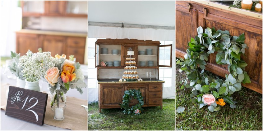 jamie leigh events, jessica ryan photography, holly ridge manor, rustic wedding detail, rustic wedding decor, sweetwater cuisine