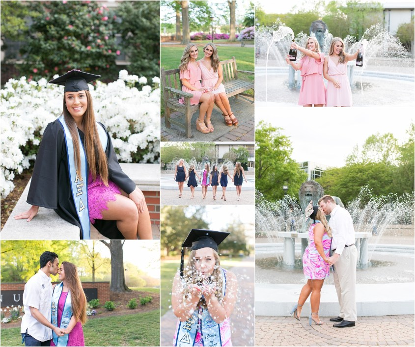 old dominion university norfolk virginia graduation portraits alpha xi delta sorority women