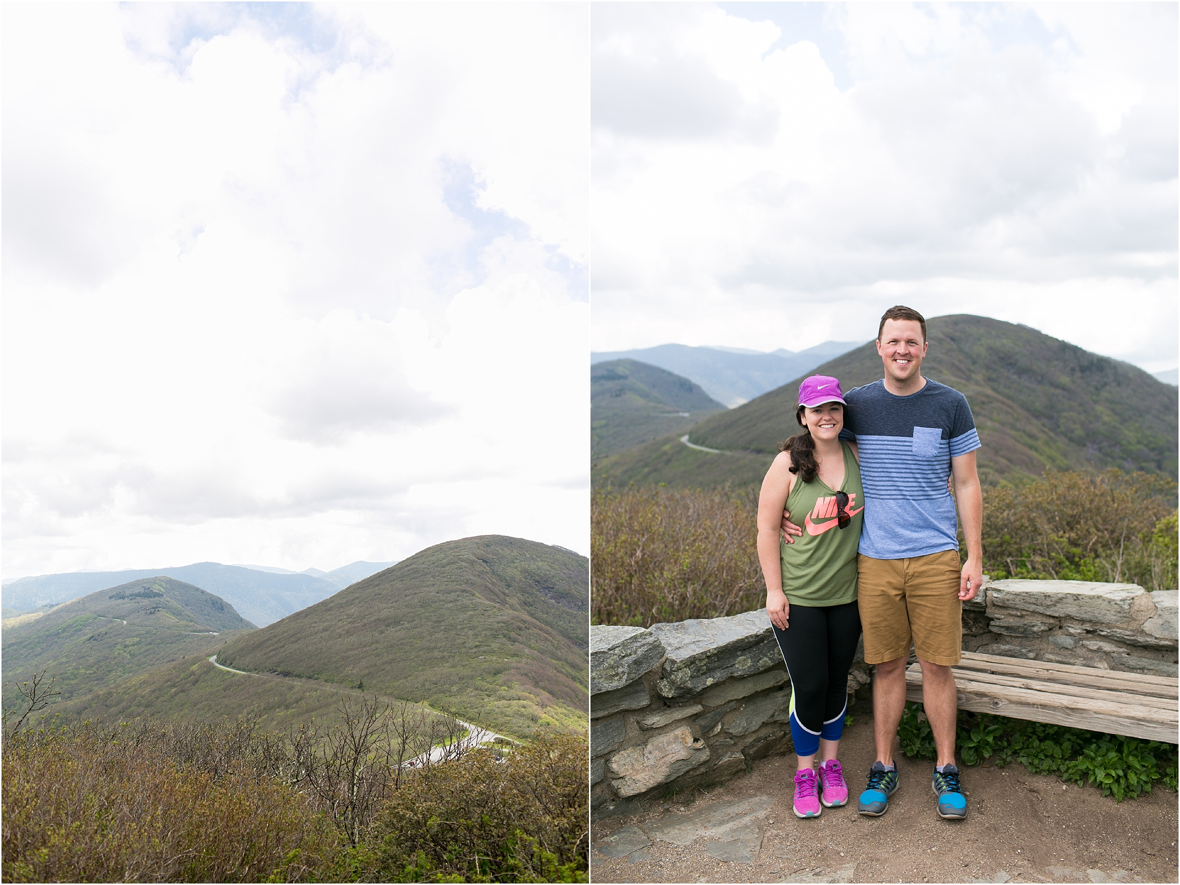 asheville north carolina honeymoon wedding photographer craggy gardens hike craggy pinnacle trail