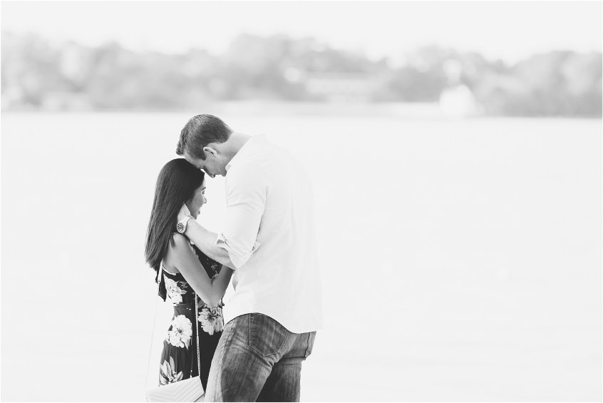 yorktown beach virginia proposal candid portrait