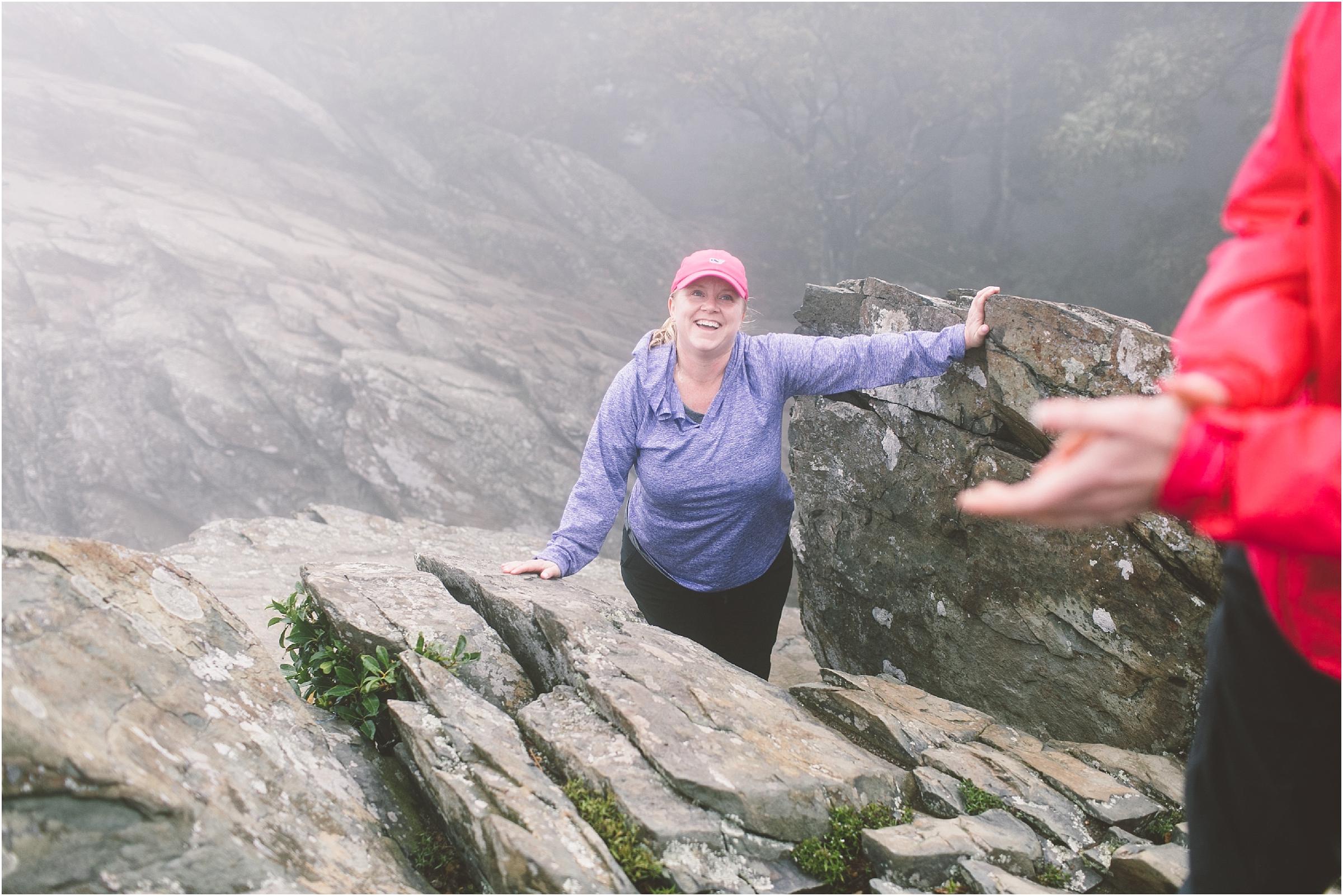 humpback rocks hike women hiking group her hike collective blue ridge parkway