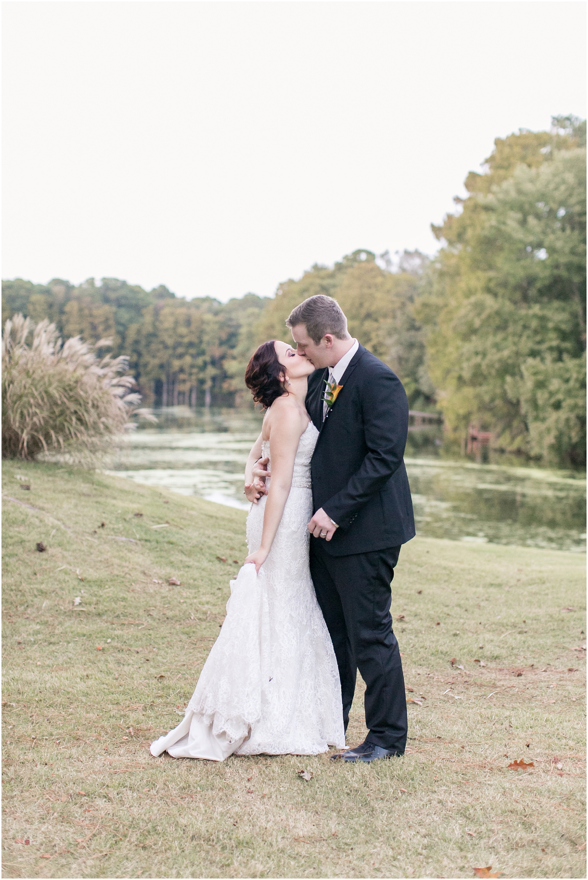 cypress point country club wedding virginia beach jessica ryan photography studio i do wedding dress , allure bridals, fluttering flowers, bride and groom canid portrait