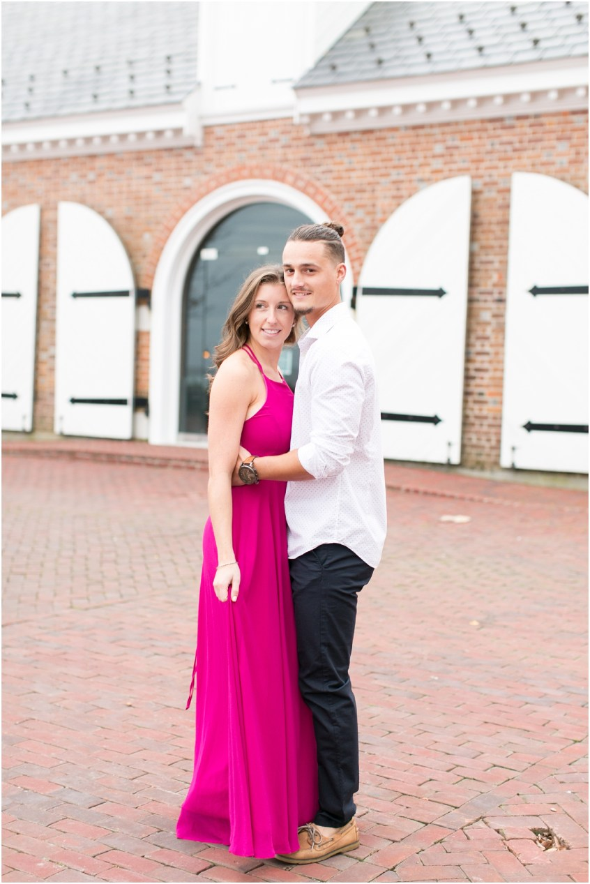 yorktown freight shed wedding venue virginia engagement photography bride and groom candid