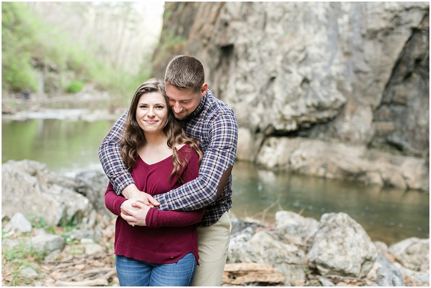 natural bridge virginia state park engagement photography adventurous couple engagements jessica ryan photography