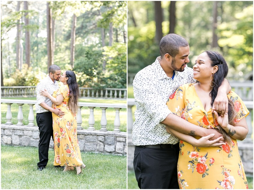 norfolk botanical gardens engagement summer photography