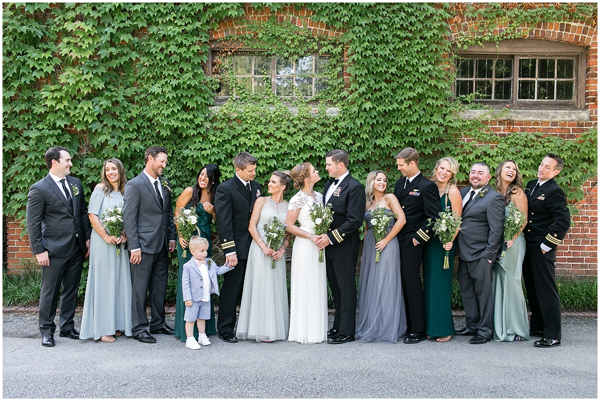 bridal party wedding at the hermitage museum and gardens