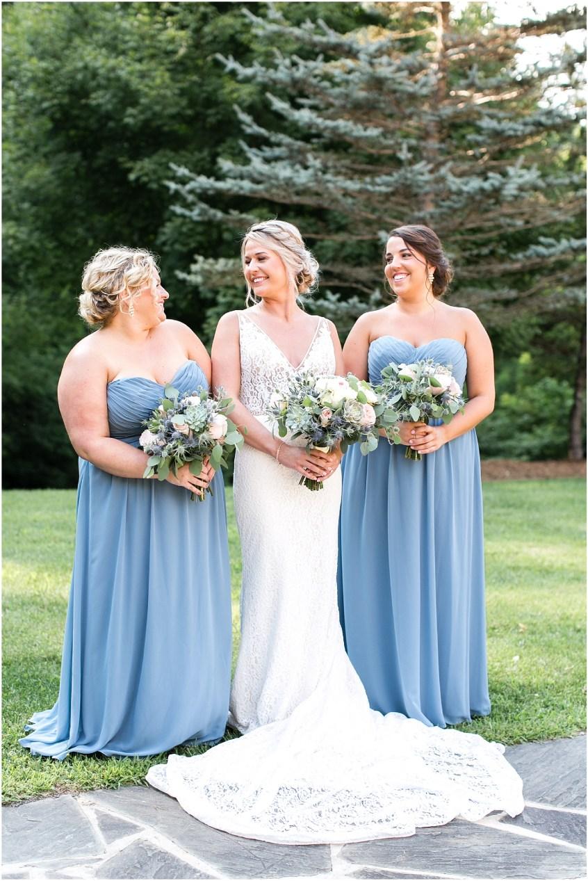 house mountain inn wedding lexington Virginia bridal party