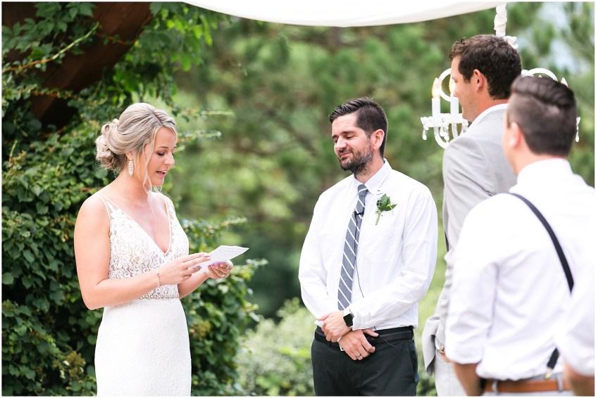 house mountain inn wedding lexington Virginia, wedding ceremony, personal vows,