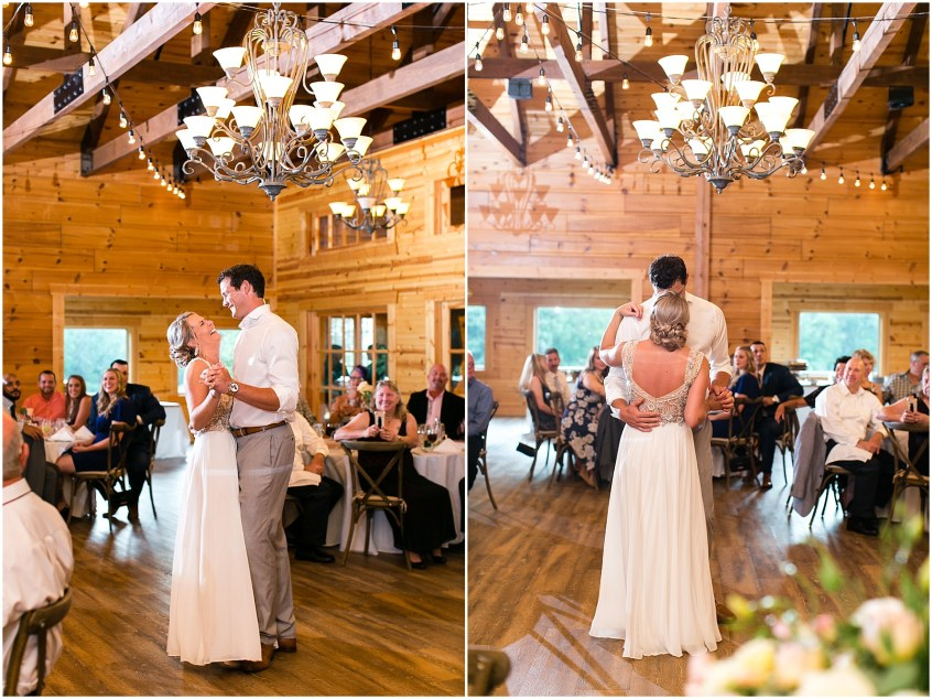 house mountain inn wedding lexington Virginia, wedding reception in the blue ridge mountains, reception first dance