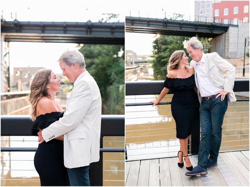 Richmond engagement photography riverside canal walk