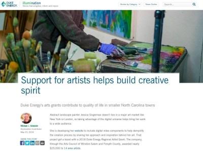 Duke Energy Ilumination, Support for Artists
