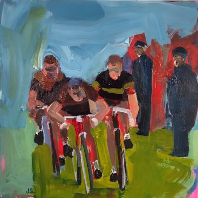 Cycling sprinting painting