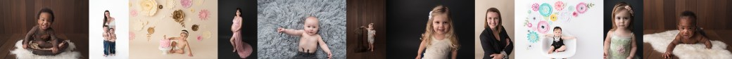 Hampton Roads Maternity Baby Cake Smash Portrait Photographer