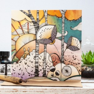 Autumn Woodland Gift Card