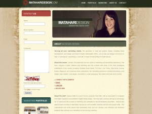 Matahari Design Contact Page - Web Design