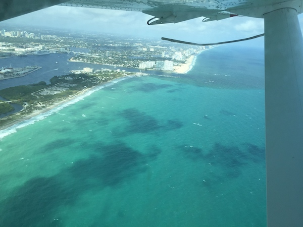 Flying over Bimini