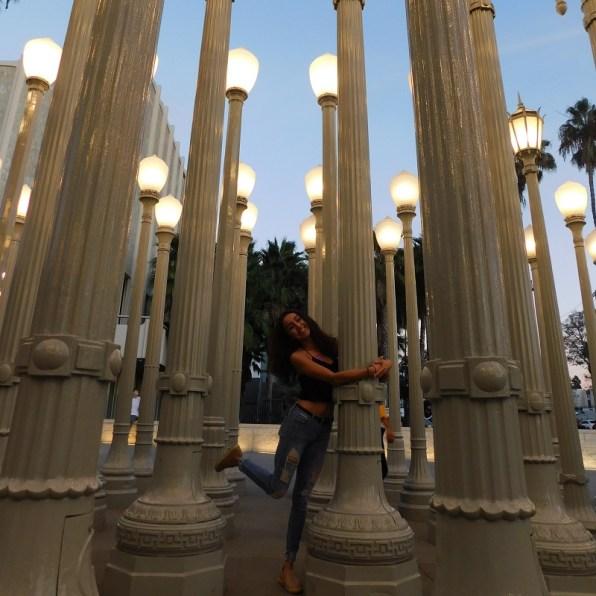 Jessy Ariaz - LACMA lights hug