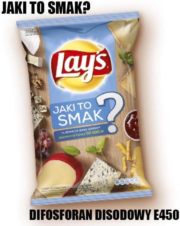 chipsy co w nich jest sztuczne barwniki i konserwanty