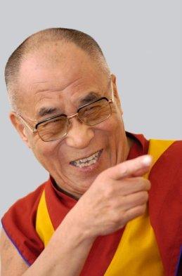 dalai lama śmieje się z ciebie