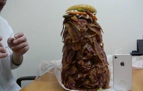 whooper burger king 1050 plastrów ekstra bekonu jestesmyfajni